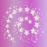 розовая спиральн звезда Стоковые Изображения RF