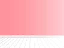 Розовая стена с белым вектором интерьера пола Стоковые Изображения RF