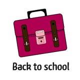 Розовая сумка школы Стоковое фото RF