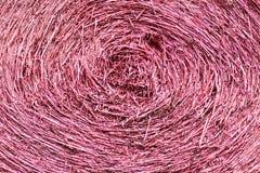 Розовая сухая солома, сухая солома свертывает, текстура предпосылки соломы стоковое изображение