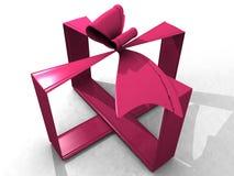 розовая тесемка 3d Стоковые Изображения