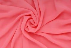 Розовая ткань, шелк текстурировала предпосылки Стоковые Изображения