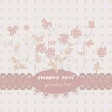 Розовая флористическая открытка Стоковое Изображение RF