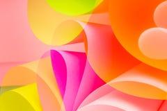 Розовая форма волны дуги разнообразия бумаги цвета Стоковая Фотография