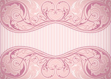 Розовая флористическая рамка предпосылки Стоковое фото RF