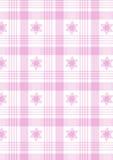 розовая шотландка Стоковые Изображения RF