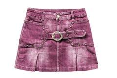 Розовая юбка джинсовой ткани Стоковое фото RF
