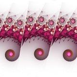 Розовое абстрактное море фрактали Стоковые Изображения