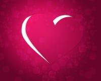 Розовое бумажное сердце иллюстрация штока