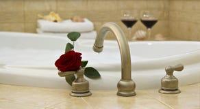 розовое вино ванны красное Стоковое Изображение