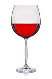 Розовое вино в стекле изолированном на белой предпосылке Стоковое фото RF