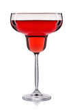 Розовое вино в стекле изолированном на белой предпосылке Стоковые Изображения RF