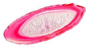 Розовое выключение агата стоковое фото