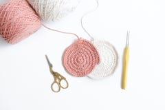 Розовое вязание крючком Стоковое Изображение