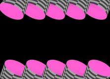 Розовое глаза заразительные яркое и Checkered Стоковые Фото