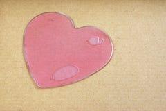 Розовое жидкостное сердце Стоковая Фотография RF