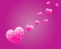 Розовое знамя вектора сердца Стоковые Изображения RF