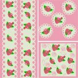 Розовое искусство предпосылки с розами Стоковая Фотография RF