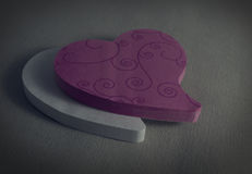Розовое и белое сердце Стоковая Фотография RF