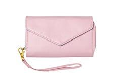 Розовое кожаное портмоне дамы Стоковое Изображение RF