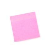 Розовое липкое бумажное примечание стоковое изображение