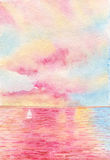 розовое море Стоковые Изображения