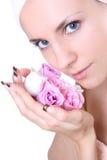 розовое мыло Стоковое фото RF
