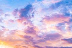 Розовое небо - ванильное небо - небо конфеты стоковые фотографии rf
