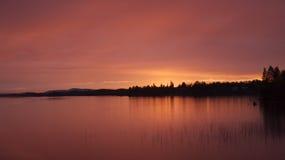 Розовое небо, нордический климат Стоковое Изображение