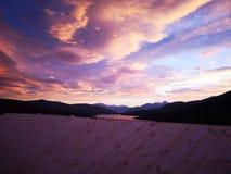 розовое небо стоковое фото