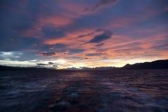 розовое небо стоковое фото rf