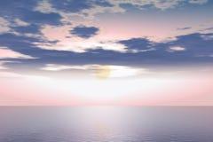 розовое небо бесплатная иллюстрация
