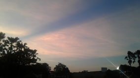 розовое небо Стоковые Фото