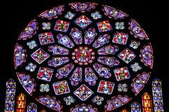розовое окно стоковое изображение
