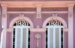 Розовое пастельное здание в Гаване в Кубе стоковые фото