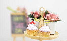 Розовое пирожне стоковая фотография