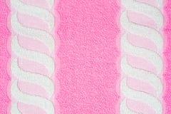 розовое полотенце Стоковая Фотография