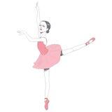 Розовое платье балетной пачки балерины иллюстрация вектора