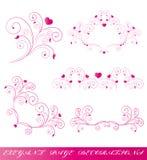 Розовое сердце, на белизне Стоковое Изображение RF