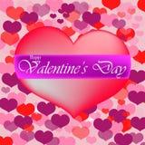 Розовое сердце с текстом Стоковые Фото