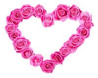 Розовое сердце стоковое изображение