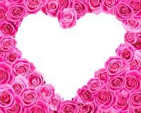 Розовое сердце стоковое изображение rf