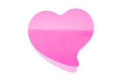 Розовое сердце Стоковые Изображения