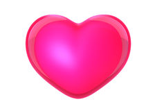 Розовое сердце иллюстрация штока