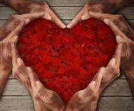 Розовое сердце 2 стоковое фото