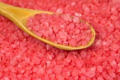 розовое текстурированное море соли Стоковое Изображение