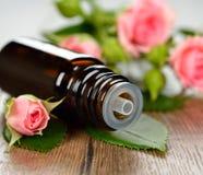 Розовое эфирное масло Стоковые Изображения