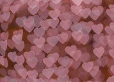 Розовое bokeh сердца Стоковое Фото