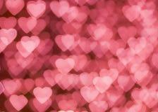 Розовое bokeh сердца Стоковая Фотография