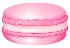 Розовое macaron с сливк внутрь бесплатная иллюстрация